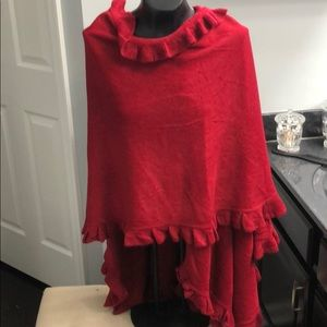 Red oversized wrap